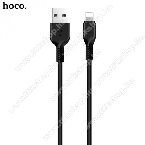 HOCO X20 adatátvitel adatkábel és töltő (lightning 8 pin, 1m, törésgátló, gyorstöltés támogatás) FEKETE - X20_LIGHT_1M_B - GYÁRI
