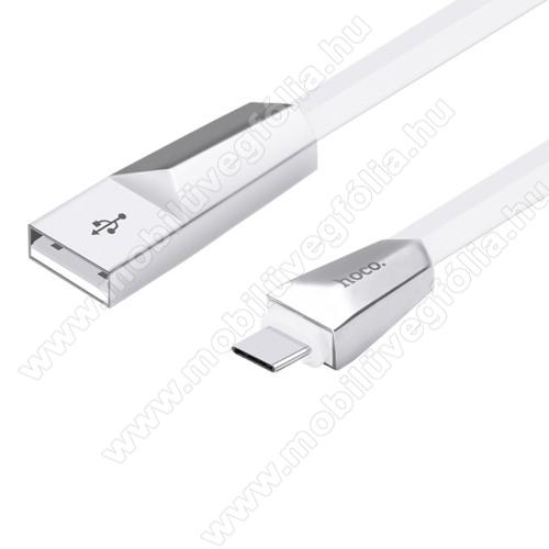 DJI Mavic AirHOCO X4 Rhombic adatátviteli kábel / USB töltő - Type-C, 1.2m hosszú, 2.4A - FEHÉR - GYÁRI