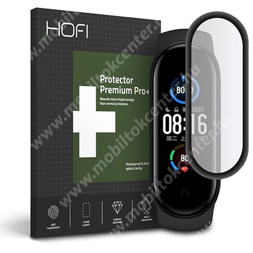 HOFI Okosóra Flexible 7H Nano Glass rugalmas edzett üveg - 0.3mm, 7H, A teljes képernyőt védi! - FEKETE - Xiaomi Mi Band 5 / Xiaomi Mi Band 6 - GYÁRI
