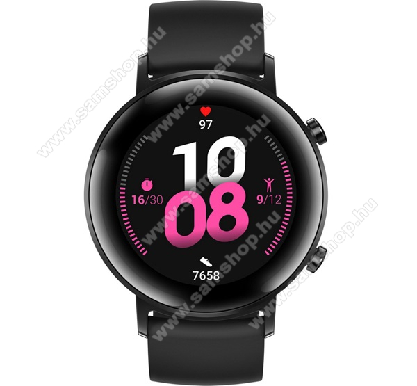 HONOR Magic Watch 2 okosóra (42mm, szilikon szíjjal) - FEKETE - 55025102 - GYÁRI