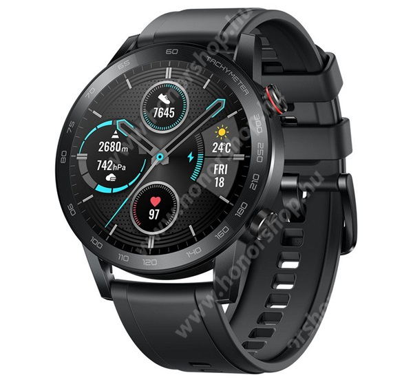 HUAWEI Honor Play 9A HONOR Magic Watch 2 okosóra (46mm, szilikon szíjjal) - FEKETE - 55024855 - GYÁRI