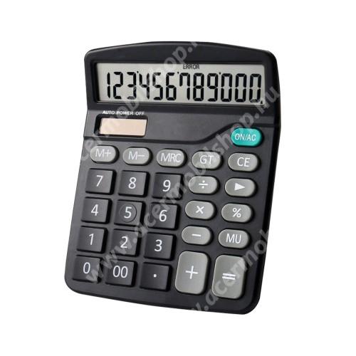 ACER Liquid Z3 Hordozható asztali számológép - 12 számjegyes, nagy LCD kijelző, csúszásgátló, napelem, 1x AA elemmel működik (NEM TARTOZÉK), 15 x 12cm - FEKETE