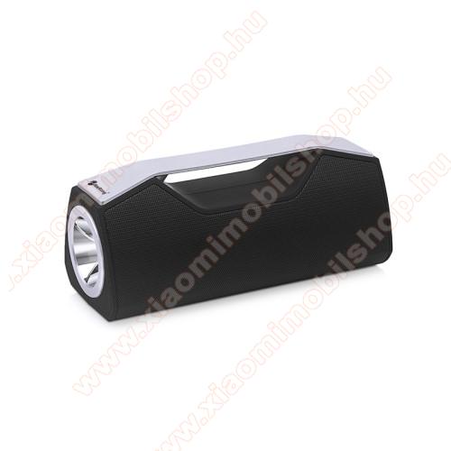Xiaomi Redmi Note 7Hordozható Bluetooth hangszóró, elem lámpa - Bluetooth V5.0, beépített mikrofon, 3,5mm AUX, USB port, FM rádió, TF kártyafoglalat, beépített 1200mAh akkumulátor - FEKETE