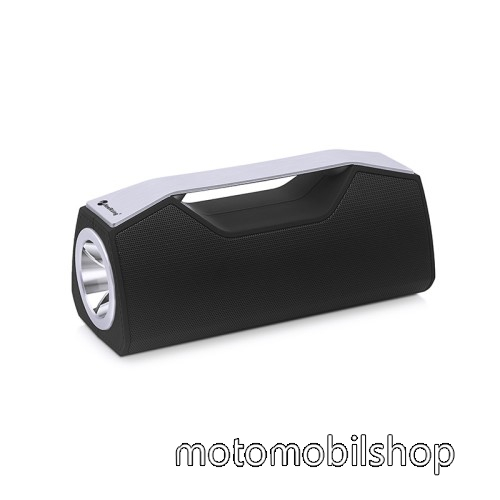 MOTOROLA RAZR HD Hordozható Bluetooth hangszóró, elem lámpa - Bluetooth V5.0, beépített mikrofon, 3,5mm AUX, USB port, FM rádió, TF kártyafoglalat, beépített 1200mAh akkumulátor - FEKETE