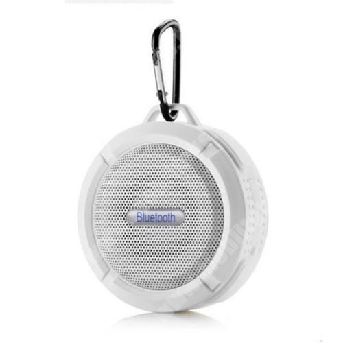 HomTom HT20 Pro Hordozható bluetooth hangszóró - FEHÉR - v3.0+EDR, microSD foglalat, mikrofon, kihangosító funkció, IP65 Víz-és porálló