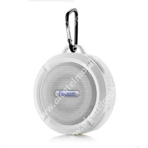 Alcatel OT-810D Hordozható bluetooth hangszóró - FEHÉR - v3.0+EDR, microSD foglalat, mikrofon, kihangosító funkció, IP65 Víz-és porálló
