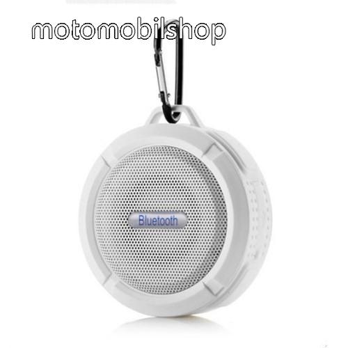 MOTOROLA MPX100 Hordozható bluetooth hangszóró - FEHÉR - v3.0+EDR, microSD foglalat, mikrofon, kihangosító funkció, IP65 Víz-és porálló