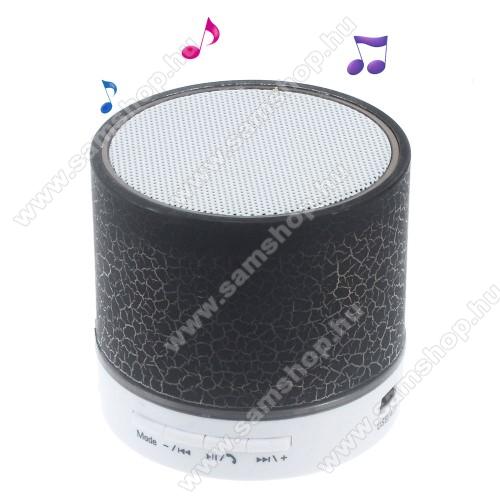 SAMSUNG SGH-E200Hordozható bluetooth hangszóró - FEKETE - v2.1, microSD foglalat, mikrofon, kihangosító funkció, 3,5 jack aljzat