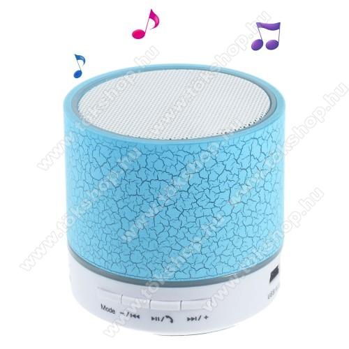 Hordozható bluetooth hangszóró - KÉK - v2.1, microSD foglalat, mikrofon, kihangosító funkció, 3,5 jack aljzat