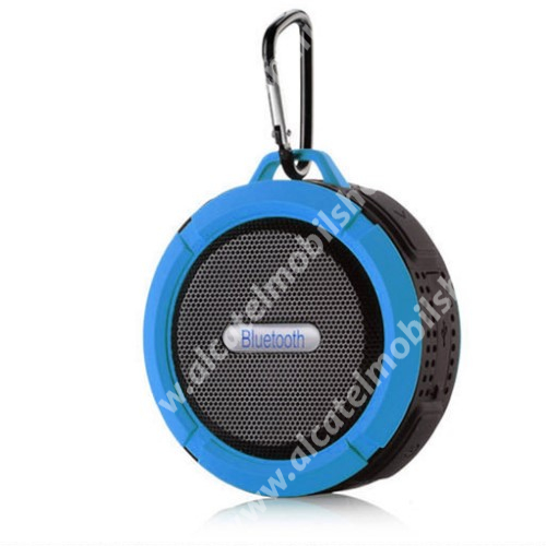 Alcatel OT-810D Hordozható bluetooth hangszóró - KÉK - v3.0+EDR, microSD foglalat, mikrofon, kihangosító funkció, IP65 Víz-és porálló