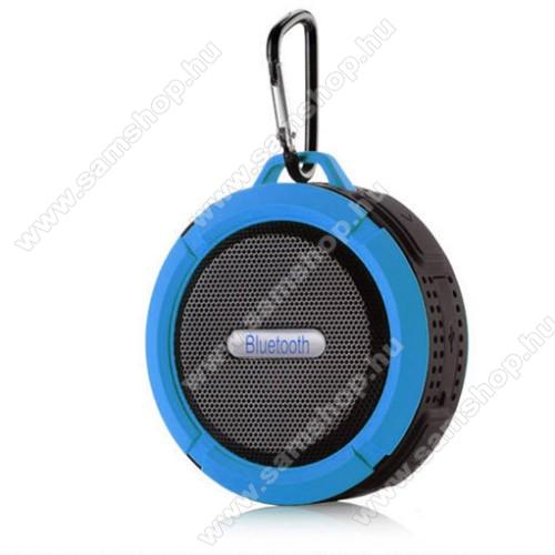 Hordozható bluetooth hangszóró - KÉK - v3.0+EDR, microSD foglalat, mikrofon, kihangosító funkció, IP65 Víz-és porálló