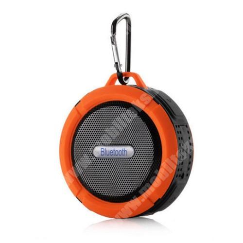 HomTom HT20 Pro Hordozható bluetooth hangszóró - NARANCS - v3.0+EDR, microSD foglalat, mikrofon, kihangosító funkció, IP65 Víz-és porálló