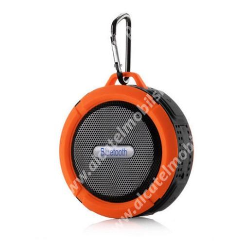 Alcatel OT-810D Hordozható bluetooth hangszóró - NARANCS - v3.0+EDR, microSD foglalat, mikrofon, kihangosító funkció, IP65 Víz-és porálló