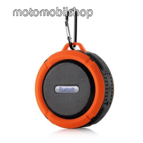 MOTOROLA MPX100 Hordozható bluetooth hangszóró - NARANCS - v3.0+EDR, microSD foglalat, mikrofon, kihangosító funkció, IP65 Víz-és porálló