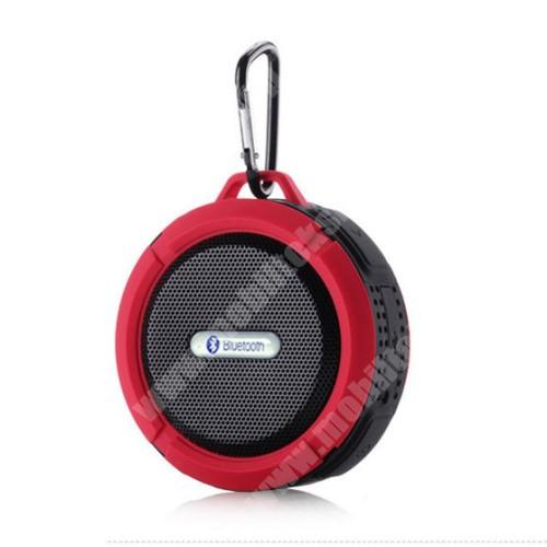 HomTom HT20 Pro Hordozható bluetooth hangszóró - PIROS - v3.0+EDR, microSD foglalat, mikrofon, kihangosító funkció, IP65 Víz-és porálló