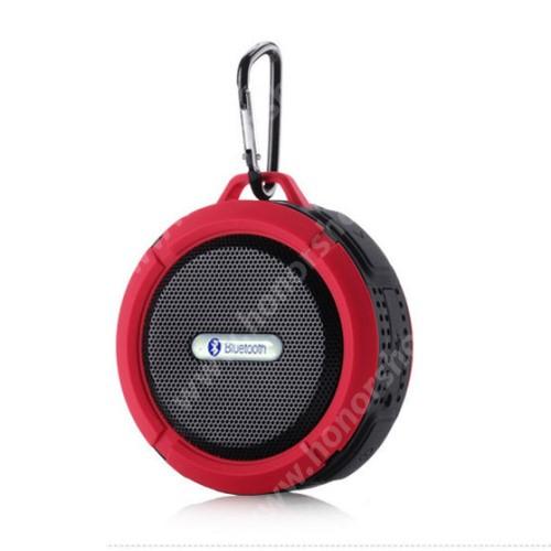 HUAWEI Honor 9 Hordozható bluetooth hangszóró - PIROS - v3.0+EDR, microSD foglalat, mikrofon, kihangosító funkció, IP65 Víz-és porálló
