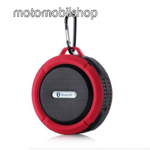 MOTOROLA MPX100 Hordozható bluetooth hangszóró - PIROS - v3.0+EDR, microSD foglalat, mikrofon, kihangosító funkció, IP65 Víz-és porálló