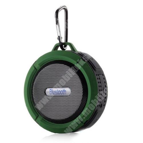 HomTom HT20 Pro Hordozható bluetooth hangszóró - ZÖLD - v3.0+EDR, microSD foglalat, mikrofon, kihangosító funkció, IP65 Víz-és porálló