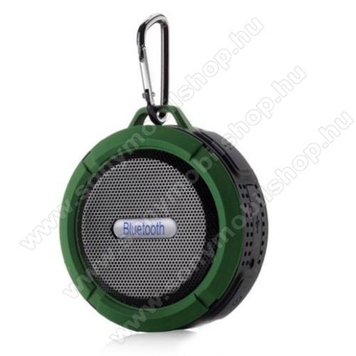 SONY Xperia E4g Dual (E2033 / E2043)Hordozható bluetooth hangszóró - ZÖLD - v3.0+EDR, microSD foglalat, mikrofon, kihangosító funkció, IP65 Víz-és porálló