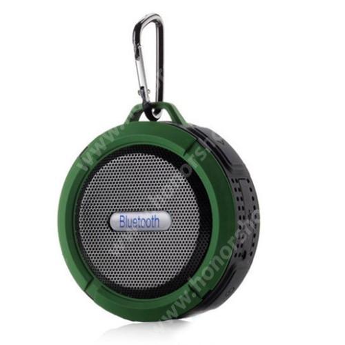HUAWEI Honor 9 Hordozható bluetooth hangszóró - ZÖLD - v3.0+EDR, microSD foglalat, mikrofon, kihangosító funkció, IP65 Víz-és porálló