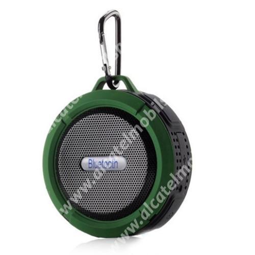 Alcatel OT-810D Hordozható bluetooth hangszóró - ZÖLD - v3.0+EDR, microSD foglalat, mikrofon, kihangosító funkció, IP65 Víz-és porálló