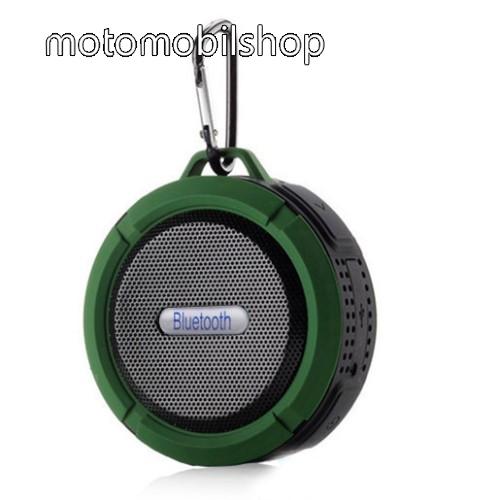 MOTOROLA MPX100 Hordozható bluetooth hangszóró - ZÖLD - v3.0+EDR, microSD foglalat, mikrofon, kihangosító funkció, IP65 Víz-és porálló