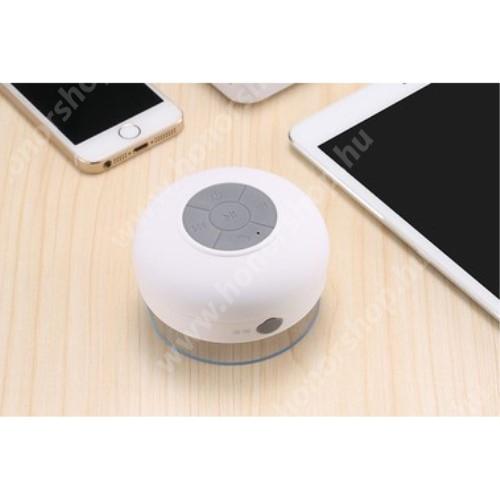 HUAWEI Honor 9 Hordozható bluetooth mini hangszóró - FEHÉR - v.3.0 +EDR, IPX4 vízállósági szabvány, tapadókorongos