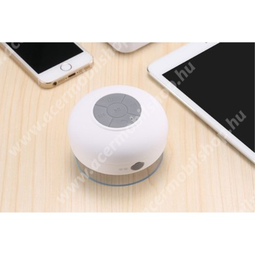ACER Liquid Z3 Hordozható bluetooth mini hangszóró - FEHÉR - v.3.0 +EDR, IPX4 vízállósági szabvány, tapadókorongos