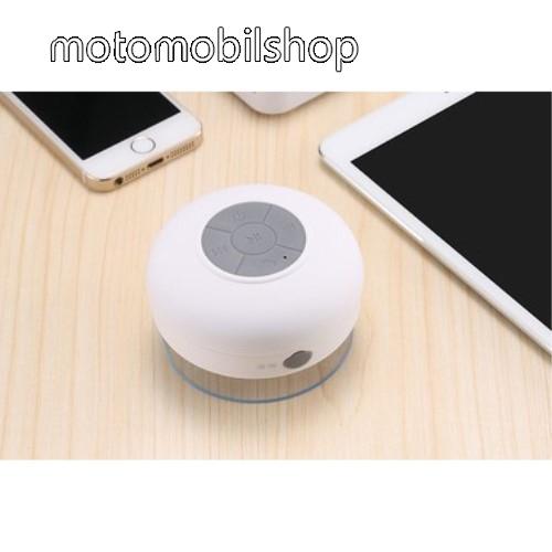 MOTOROLA Fire (XT311) Hordozható bluetooth mini hangszóró - FEHÉR - v.3.0 +EDR, IPX4 vízállósági szabvány, tapadókorongos