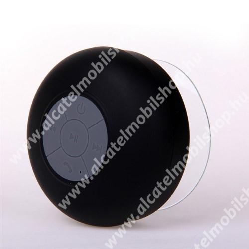 Alcatel OT-810D Hordozható bluetooth mini hangszóró - FEKETE - v.3.0 +EDR, IPX4 vízállósági szabvány, tapadókorongos