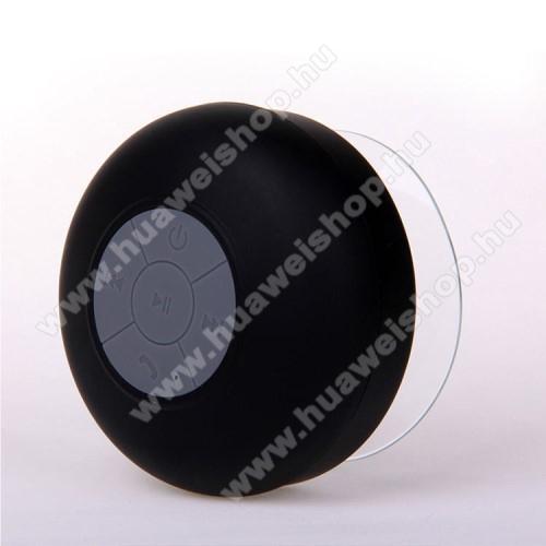 Hordozható bluetooth mini hangszóró - FEKETE - v.3.0 +EDR, IPX4 vízállósági szabvány, tapadókorongos