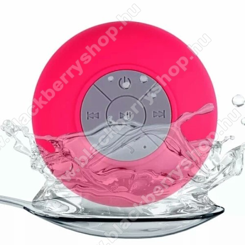 Hordozható bluetooth mini hangszóró - RÓZSASZÍN - v.3.0 +EDR, IPX4 vízállósági szabvány, tapadókorongos