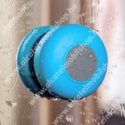 Alcatel OT-810D Hordozható bluetooth mini hangszóró - VILÁGOSKÉK - v.3.0 +EDR, IPX4 vízállósági szabvány, tapadókorongos