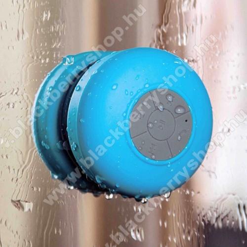 Hordozható bluetooth mini hangszóró - VILÁGOSKÉK - v.3.0 +EDR, IPX4 vízállósági szabvány, tapadókorongos