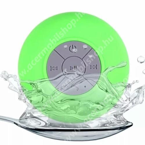 ACER Liquid Z3 Hordozható bluetooth mini hangszóró - ZÖLD - v.3.0 +EDR, IPX4 vízállósági szabvány, tapadókorongos
