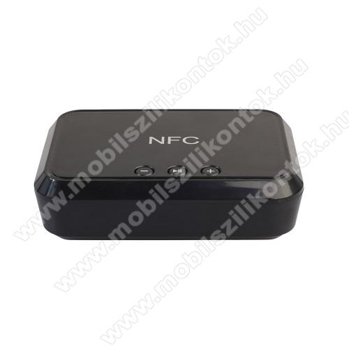 Hordozható bluetooth zene vevőegység - v4.1, NFC, USB töltőporttal - FEKETE