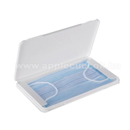 APPLE iPhone 8 PlusHordozható műanyag védő tok védőmaszkokhoz - 1db, por és szennyeződésgátló, 190 x 110 x 1,2 mm