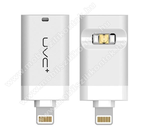 Hordozható Sterilizáló lámpa - Lightning - OTG, 0.4W, beépített UV-C fertőtlenítő lámpa, mini - FEHÉR - UW800_W - GYÁRI