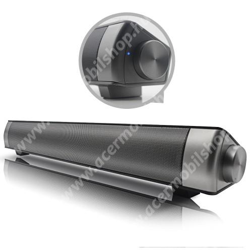 ACER Liquid Z3 HORDOZHATÓ SZTEREO BLUETOOTH HANGSZÓRÓ / SOUNDBAR - 2 x 5W, 3,5 Jack csatlakozó is, microSD kártyafoglalat, mp3 lejátszás, újratölthető belső akkumulátor - FEKETE