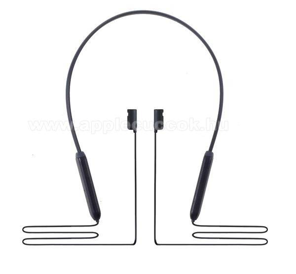 Hordozható töltő (5V/0.1A, 110 mAh, nyakba akasztható, elvesztés gátló, Apple AirPods kompatibilis) FEKETE