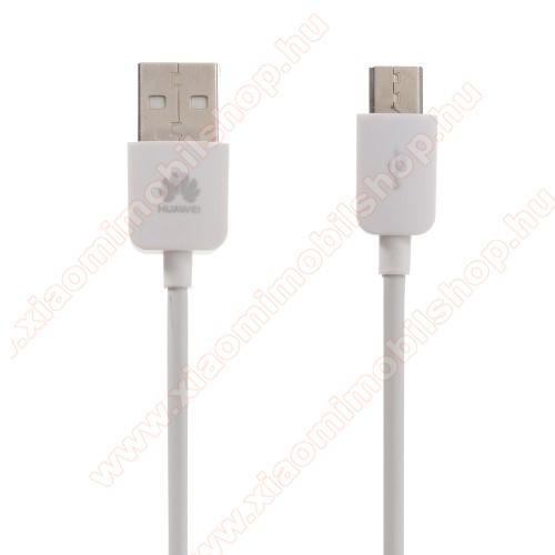Xiaomi Mi PlayHUAWEI 1A adatátvitel adatkábel / USB töltő - USB / microUSB, 1m - FEHÉR - GYÁRI