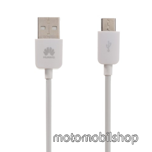 MOTOROLA RAZR HD HUAWEI 1A adatátvitel adatkábel / USB töltő - USB / microUSB, 1m - FEHÉR - GYÁRI