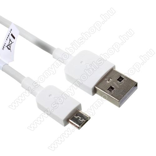 SONY Xperia Z2 (D6503)HUAWEI 2A adatátvitel adatkábel / USB töltő - USB / microUSB, 1m - FEHÉR - GYÁRI
