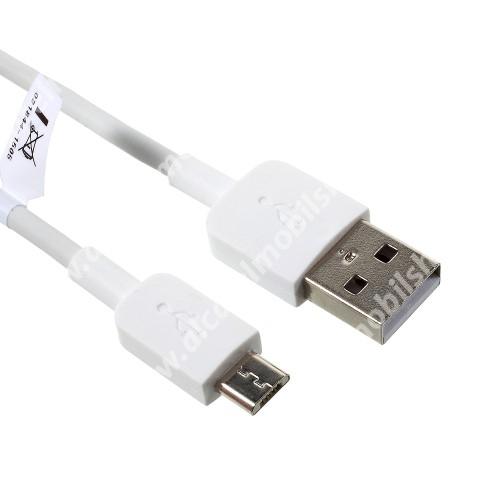 HUAWEI 2A adatátvitel adatkábel / USB töltő - USB / microUSB, 1m - FEHÉR - GYÁRI