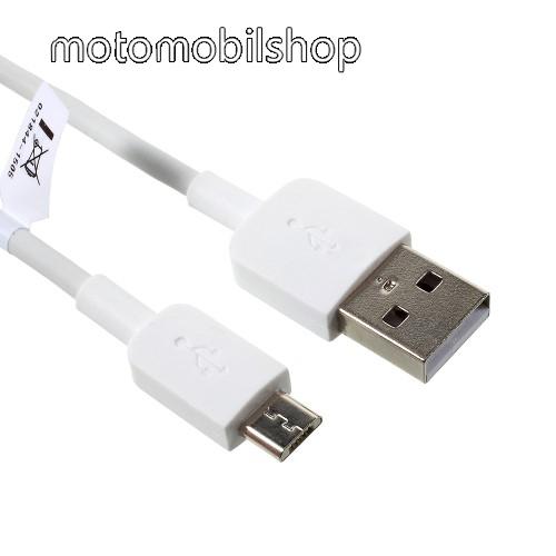 MOTOROLA Moto E4 HUAWEI 2A adatátvitel adatkábel / USB töltő - USB / microUSB, 1m - FEHÉR - GYÁRI