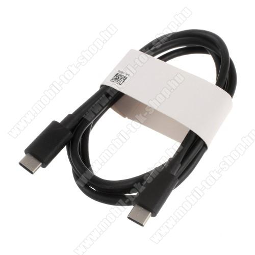 HUAWEI adatátvitel adatkábel és USB töltő - USB Type-C / USB Type-C, 1 m, 3A töltőáram átvitelére is képes! - FEKETE - GYÁRI