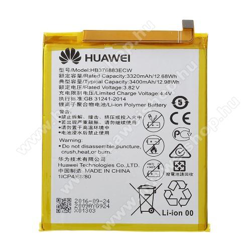 HUAWEI akkumulátor - 3400mAh, 3.82V - HB376883ECW - HUAWEI P9 Plus - GYÁRI