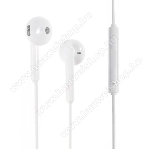 HUAWEI Ascend Y221HUAWEI AM115 sztereo headset - 3,5mm jack, felvevő gomb, hangerő szabályzó - FEHÉR - GYÁRI