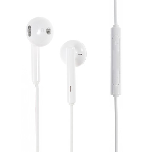 HUAWEI AM115 sztereo headset - 3,5mm jack, felvevő gomb, hangerő szabályzó - FEHÉR - GYÁRI