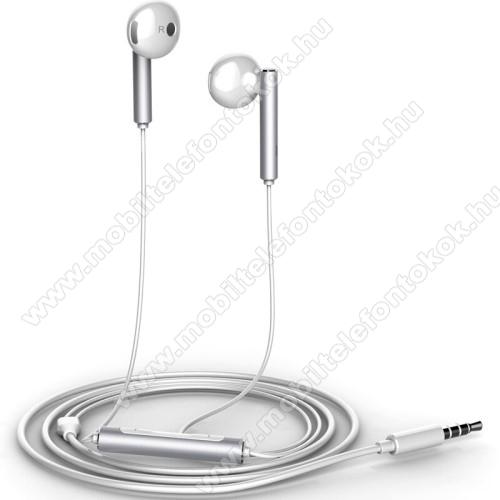 HUAWEI AM116 sztereo headset - 3,5mm jack, felvevő gomb, hangerő szabályzó - EZÜST - GYÁRI